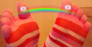 Comic Relief Rainbow feet