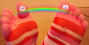 Comic Relief Rainbow feet